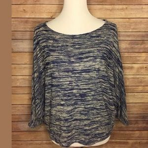 Anthropologie Postmark Blue Dolman Blouse Top